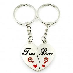 Širdutė - poros raktų pakabukai