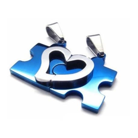 """Poros pakabukai  """"Mėlyna širdies dėlionė"""""""
