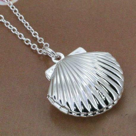 Atsidaranti kriauklė dengta sidabru