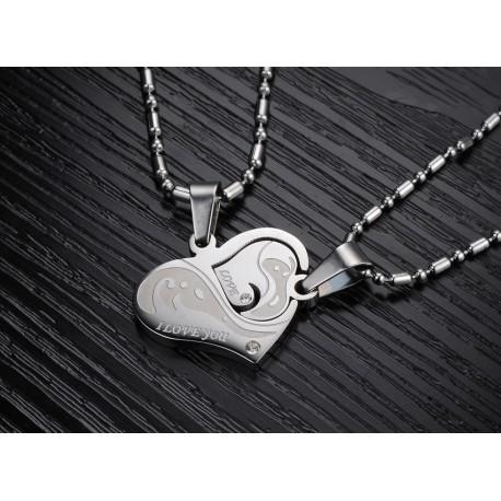 """Porų pakabukai """"Širdis širdyje"""""""