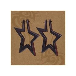 """Mediniai perveriami auskarai """"Žvaigždės"""""""