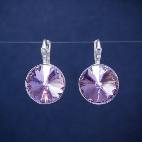 Sidabriniai auskarai su Svarovskio kristalais