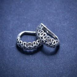Klasikiniai angliški sidabriniai auskarai