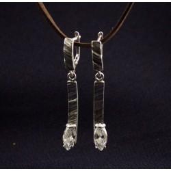 Mažieji šlifuoto sidabro auskarai