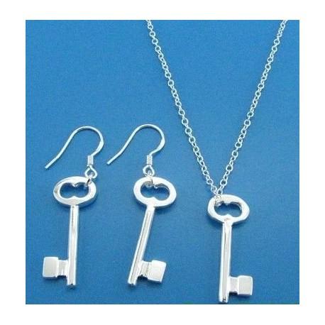 Komplektas sidabriniai rakteliai