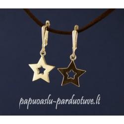 Sidabriniai auskarai žvaigždelės