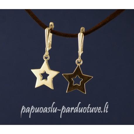 Sidabriniai auskarai žvaigždės