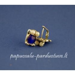 Sidabriniai auskarai pelėdžiukai su perlais
