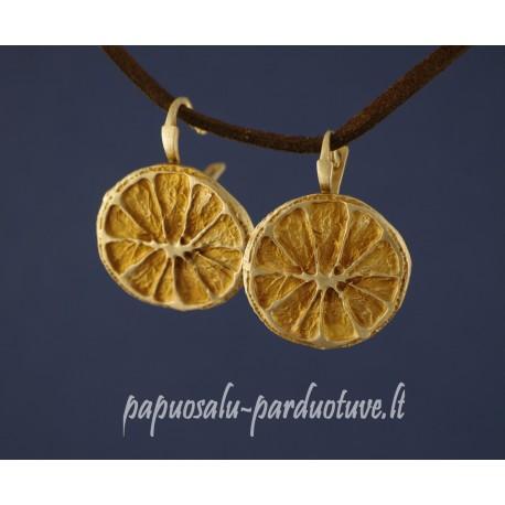 Sidabriniai auskarai citrinos