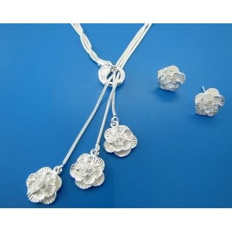 Papuošalų komplektas rožės žiedeliai
