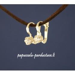 Angliško užsegimo sidabriniai auskarai