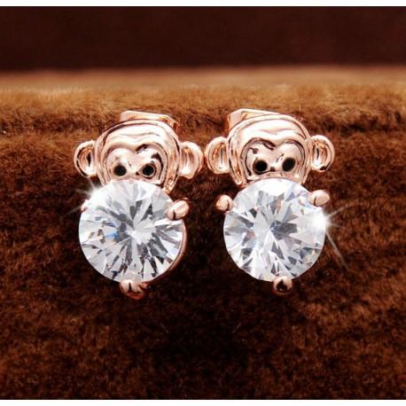 """Aukso imitacijos auskarai """"Beždžionėlės"""""""