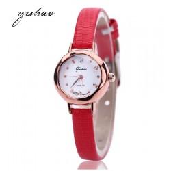 Raudonas moteriškas laikrodis