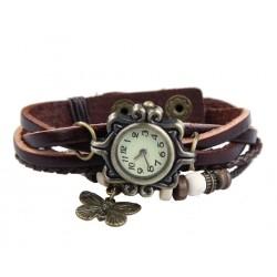"""Vintažinis rudas laikrodis su drugeliu """"Vasara"""""""