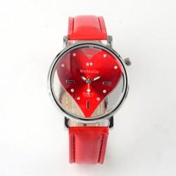Moteriškas raudonas laikrodis