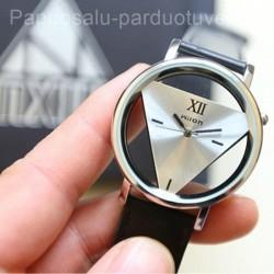Moteriško modernūs trikampis laikrodžiai