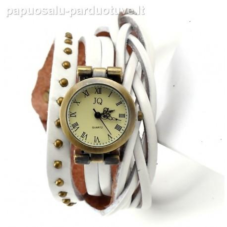 """Baltas vintažinis laikrodis """"Žiema"""""""