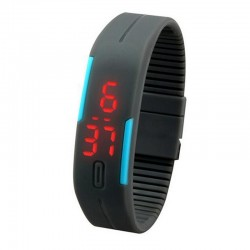 Pilkas silikoninis sportinis laikrodis