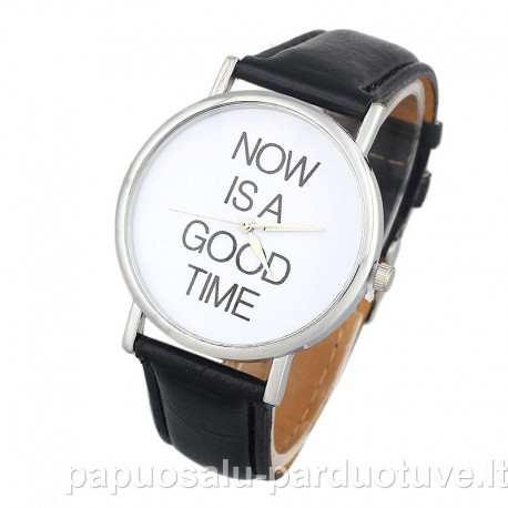 Laikrodis juokingu užrašu