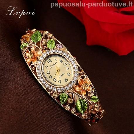 Vasariškas moteriškas laikrodis