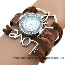 Rudas laikrodis Love