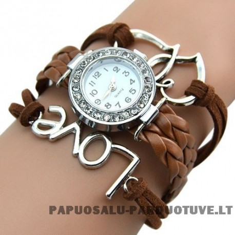 Rudas laikrodis merginai