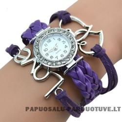 Violetinis laikrodis Love