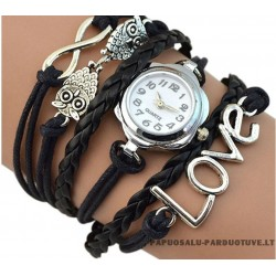 """Moteriškas laikrodis """"Meilė pelėdoms"""""""