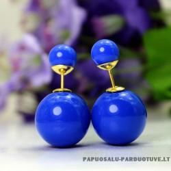"Mėlyni apvalūs auskarai ""AU1175"""