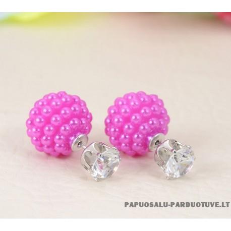 """Rožiniai auskarai """"Burbuliukai"""""""