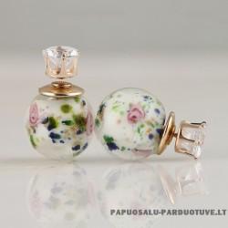 """Stikliniai auskarai """"Rožės"""""""