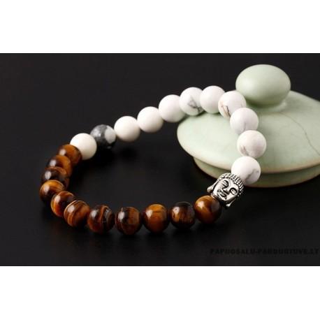 """Natūralaus akmens apyrankė """"Buda"""""""