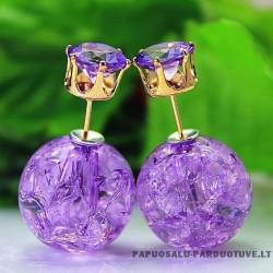"""Violetiniai apvalūs auskarai """"AU1288"""""""