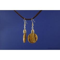 Jaspio akmens auskarai
