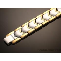 Auksu dengta, plieninė apyrankė su magnetais