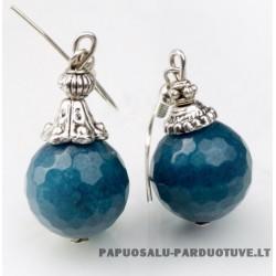 "Natūralaus akmens auskarai ""Mėlyna"""
