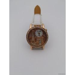 """Baltas moteriškas laikrodis """"Paryžius"""""""