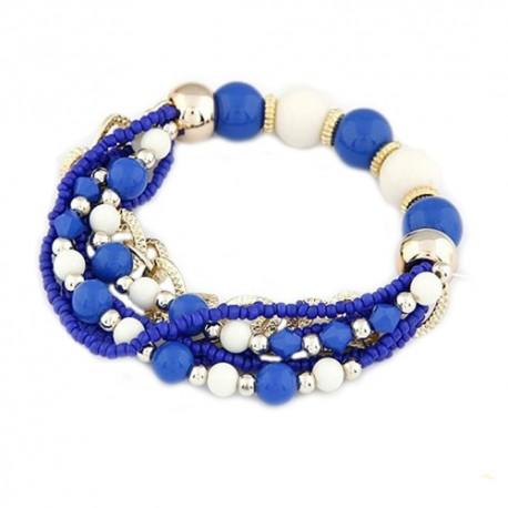 Mėlyna moteriška karoliukų apyrankė