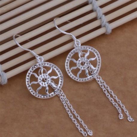 Moteriški auskarai sidabrinės saulės