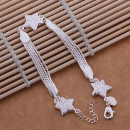 Moteriška sidabro apyrankė 3 žvaiždės