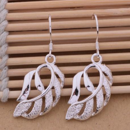 Moteriški auskarai sidabriniai lapai