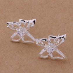 Moteriški auskarai sidabriniai drugeliai